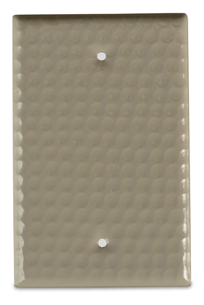 Monarch Abode Hand Hammered Desert Clay Blank Wall Plate / Switch Plate