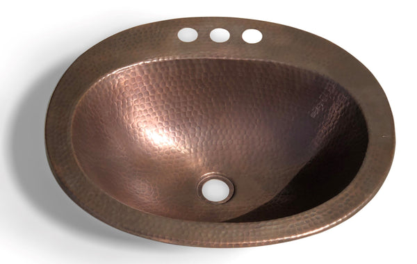 Monarch Pure Copper Hand Hammered Newbury Sink