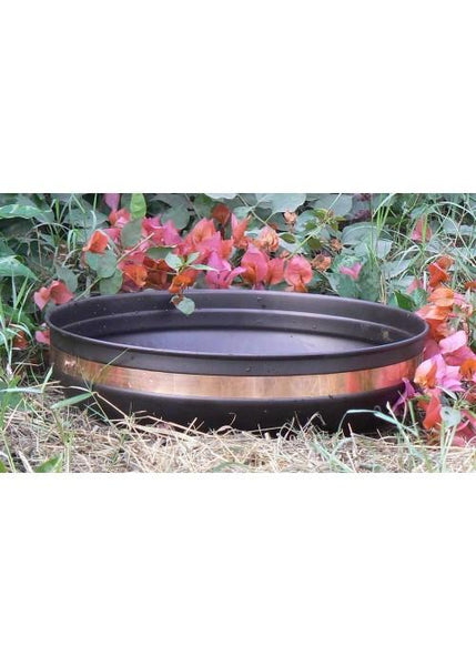 Monarch Rain Chains Mild Steel Powder Coated Basin with Copper Band