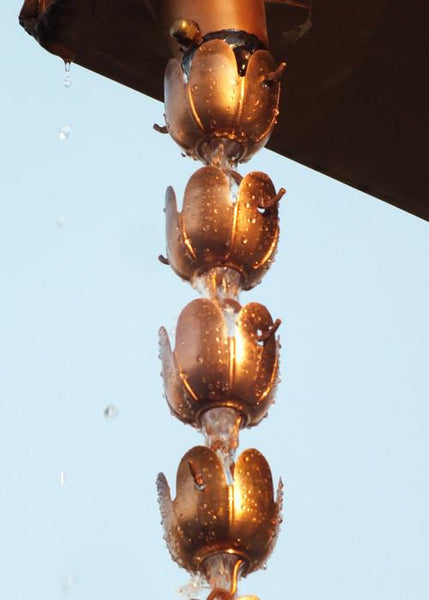 Monarch Rain Chains Pure Copper Sundrop Rain Chain Extension 3 ft