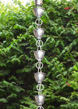 Monarch Rain Chains Aluminum Hammered Cup Rain Chain- Mill Finish 8.5 ft.