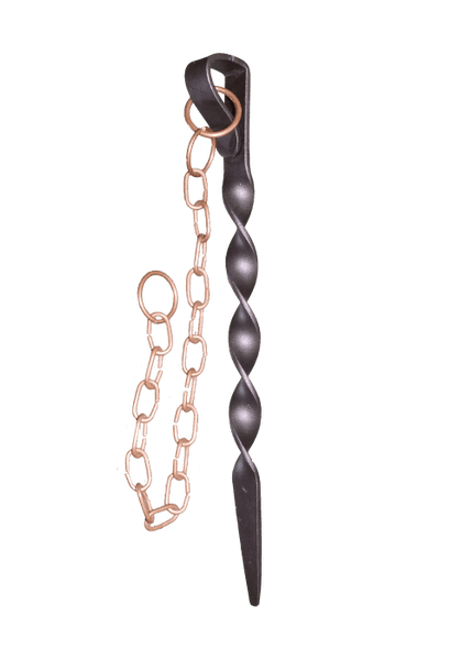 Monarch Rain Chains -Rain Chain Anchoring Stake - Dark brown