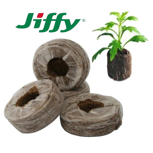 100 x Jiffy 7 Coco Peat 41/38mm dry Plug Propagation Pellets, Cuttings, Seeds, Plant