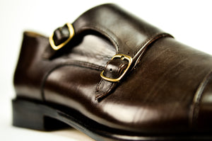 brown monkstraps