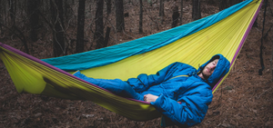 selkbag, sleeping bag, camping, wearable suit, hammock
