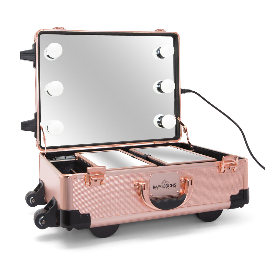 Slaycase 174 Xls Vanity Travel Case With Stand In Rose Gold