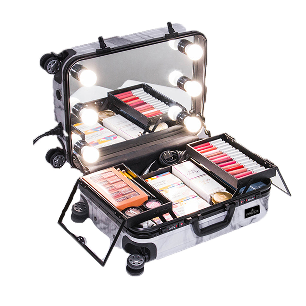 SlayCase® Marble Bella Travel Makeup Case