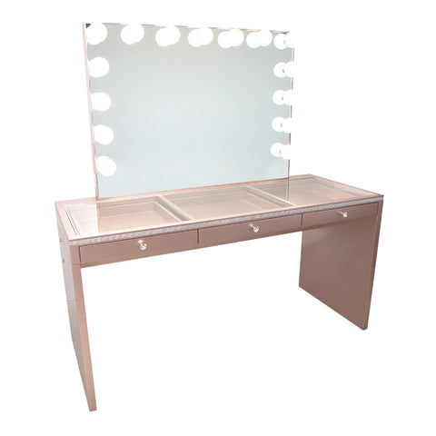 SlayStation® Pro Premium Crystal Table + Glow Pro Vanity Mirror Bundle