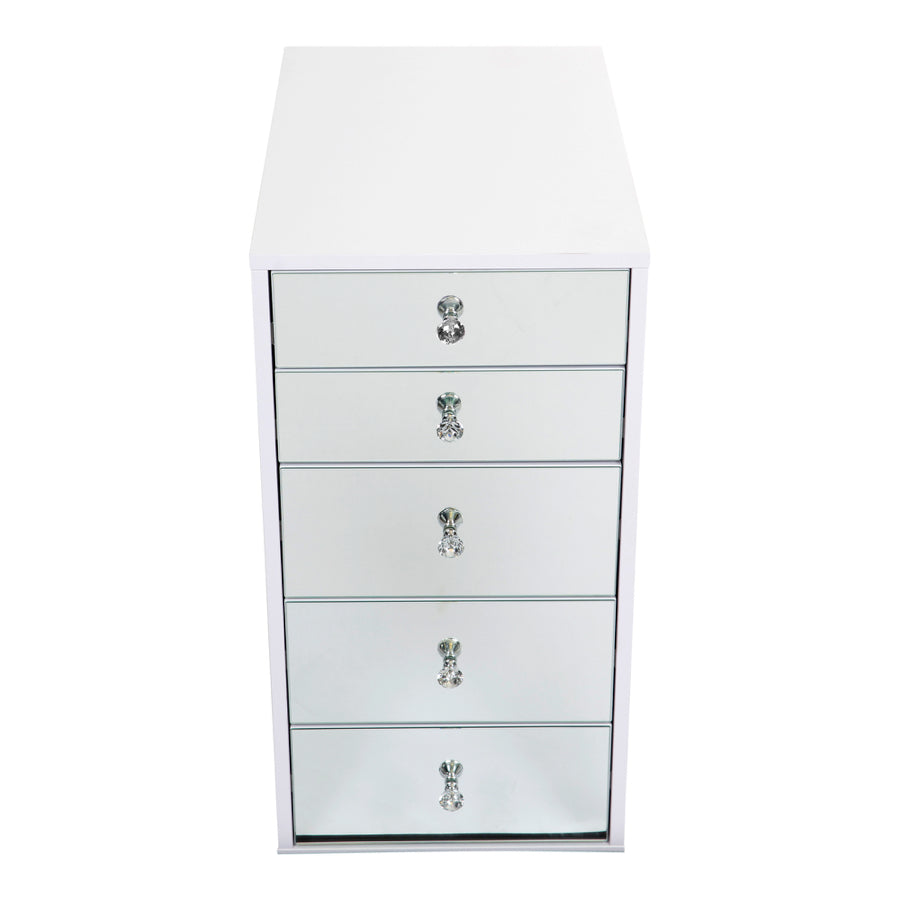 SlayStation® 5-Drawer Mirrored Vanity Storage Unit