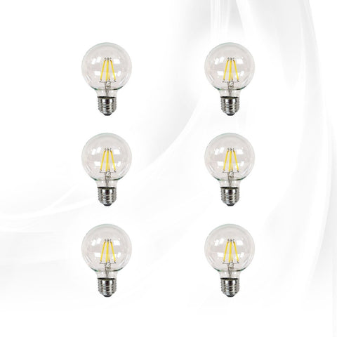 Vanity bulbs and accessories impressions vanity co clear led filament g25 globe bulbs 6 pack dimmable bright white aloadofball Gallery