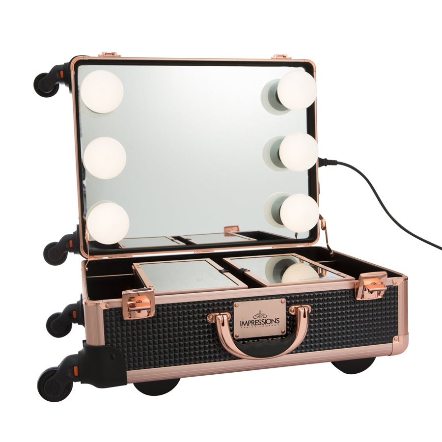 SlayCase® XL Vanity Travel Case in Black & Rose Gold
