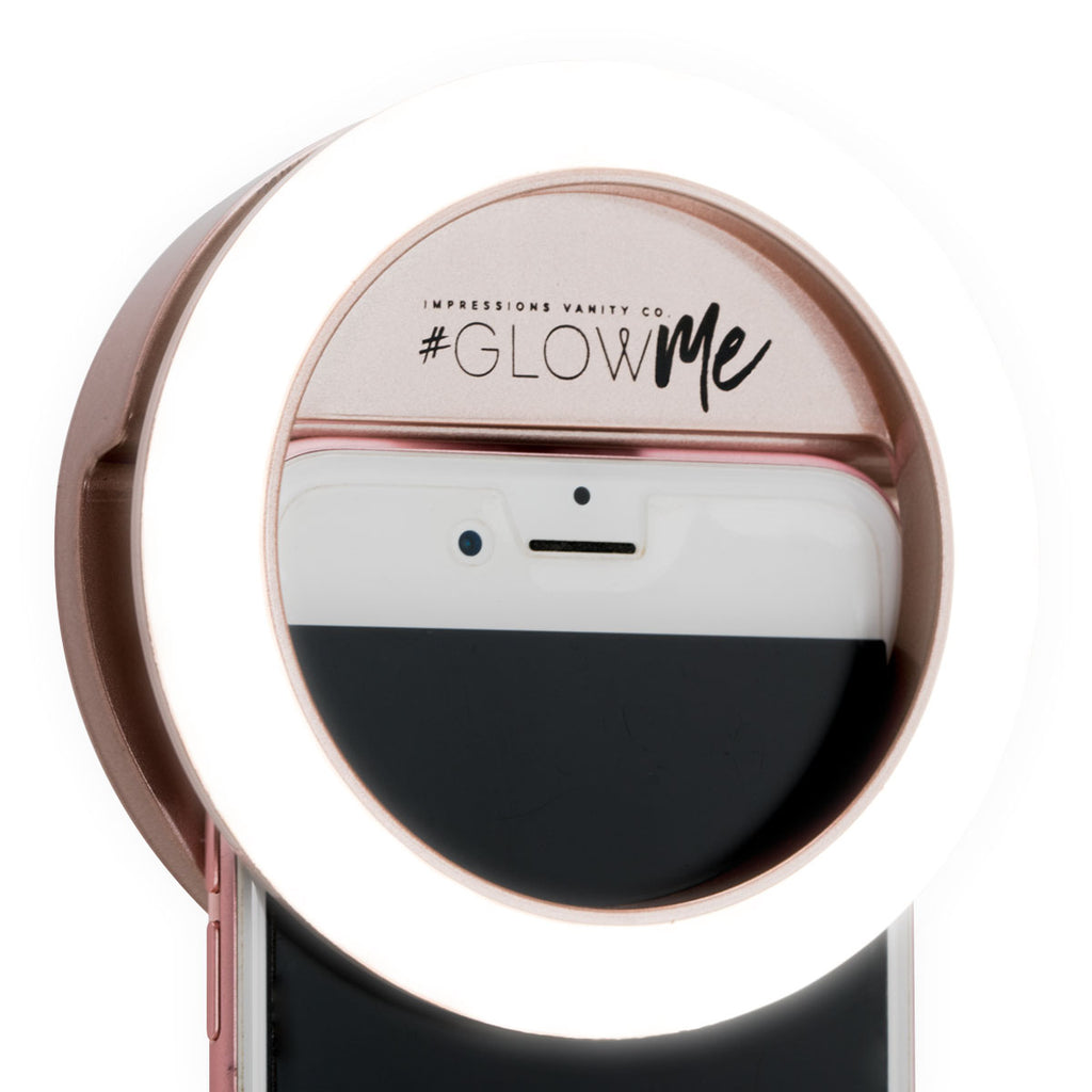 Makeup Ring And Lights: GlowMe 2.0 Rechargeable Clip-On LED Selfie Ring Light For