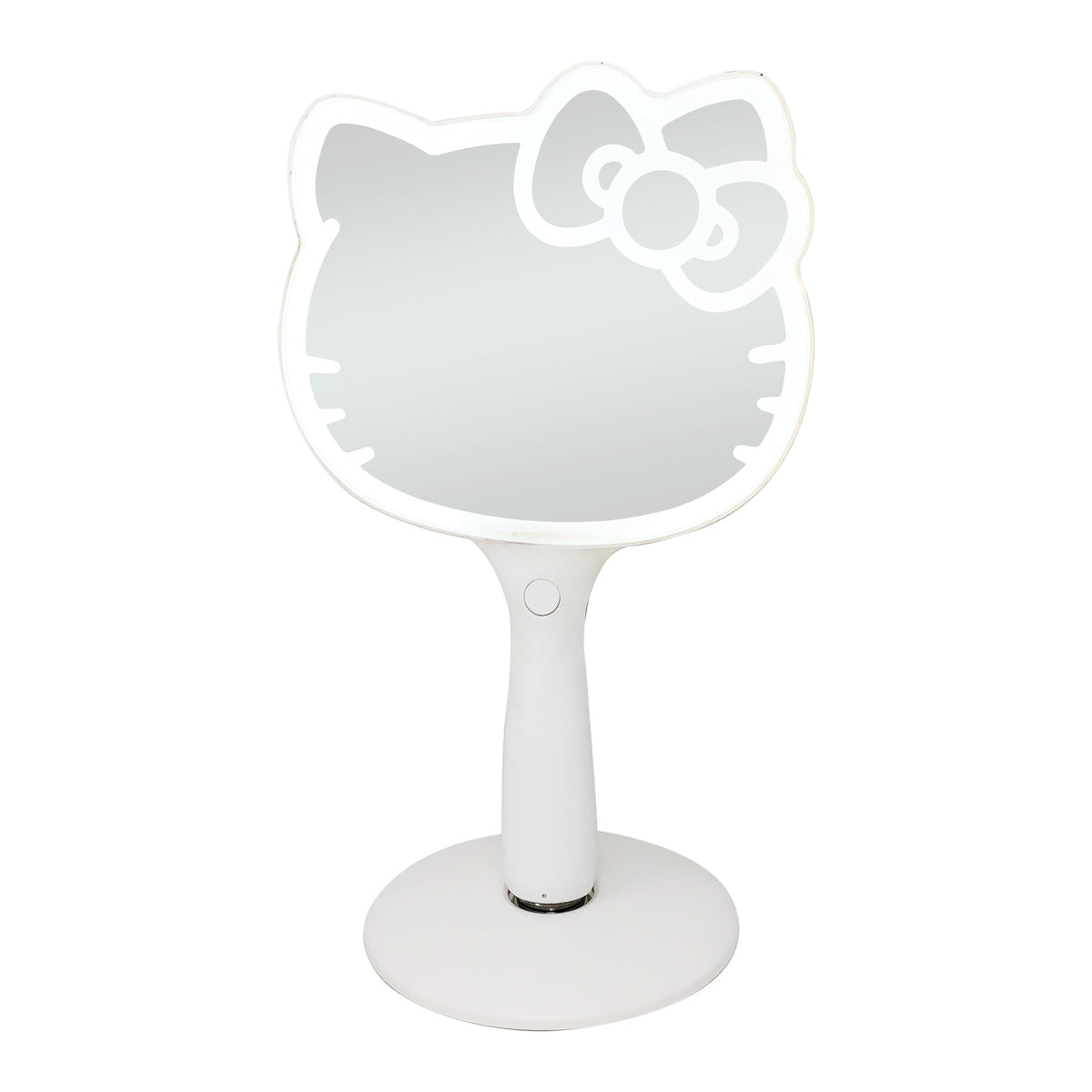 Hello Kitty Led Handheld Makeup Mirror With Standing Base Impressions Vanity Co