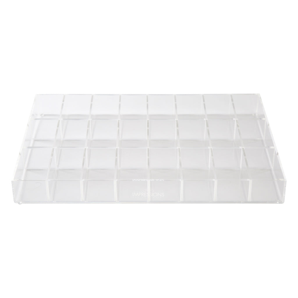 Alexa® Acrylic Makeup Drawer Organizer - Adjustable Dividers, 24 Slots (Wide)