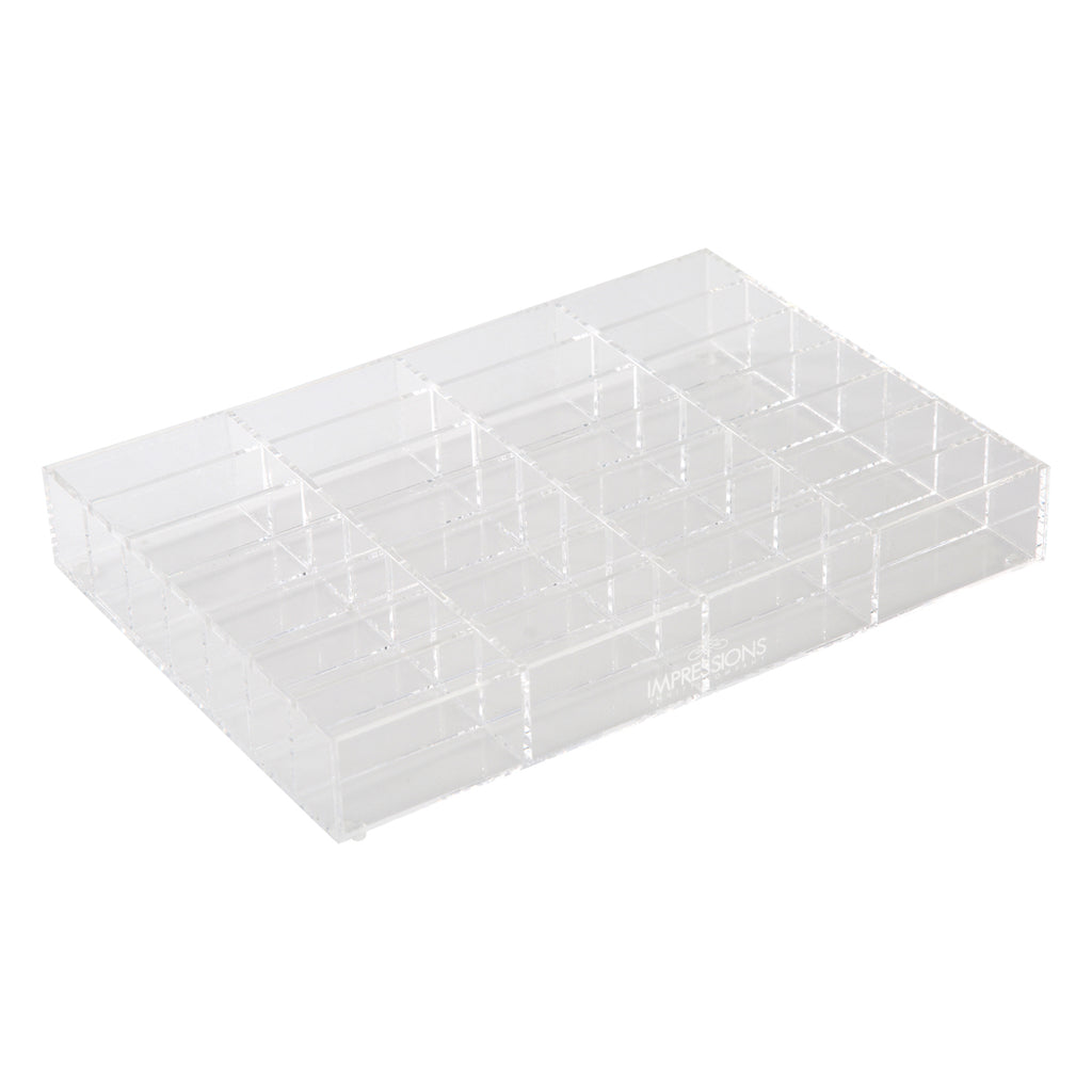 Alexa® Acrylic Makeup Drawer Organizer - Compact Powder, 28 Slots (Wide)