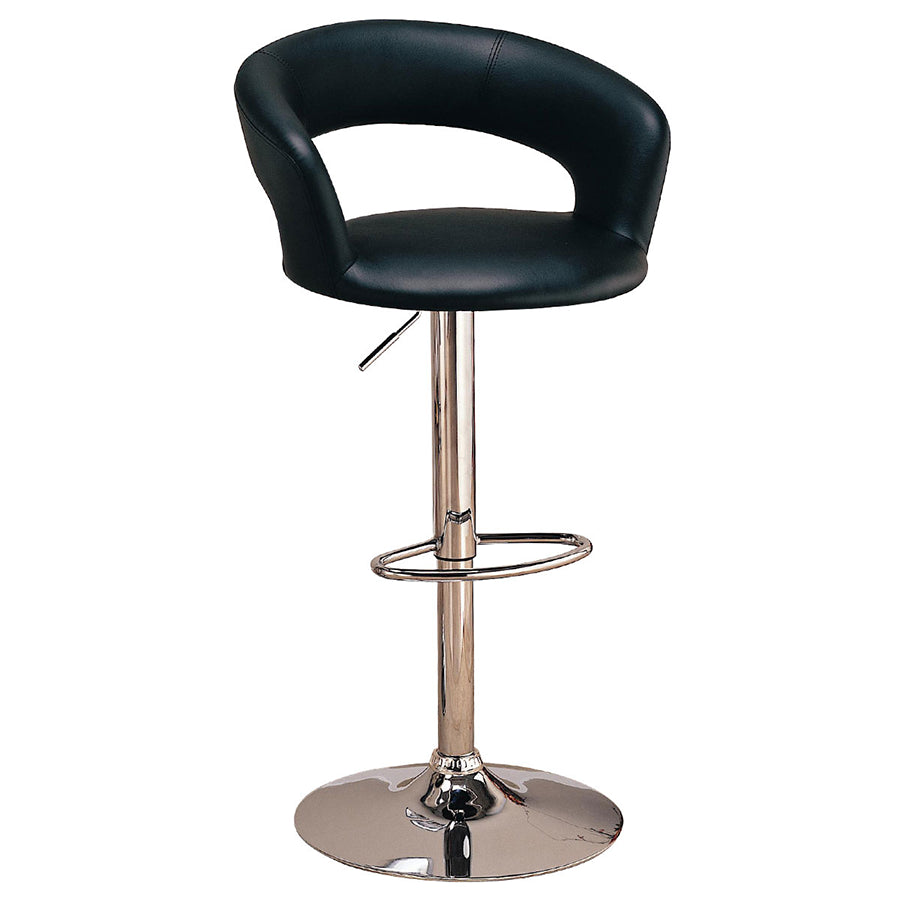 Impressions vanity co modern curved vanity chair with adjustable height - Tall vanity chair ...