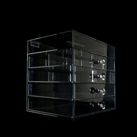 Diamond Collection 5-Tier Acrylic Organizer with Flip Open Top