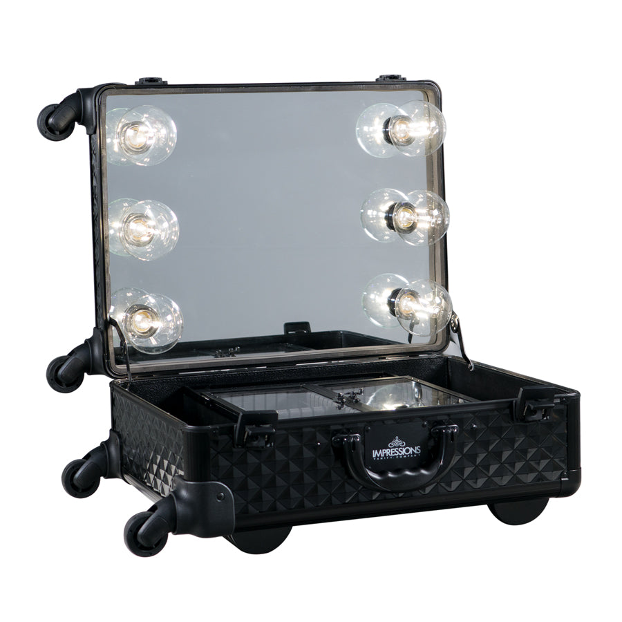 SlayCase® XL Vanity Travel Train Case in Black Studded