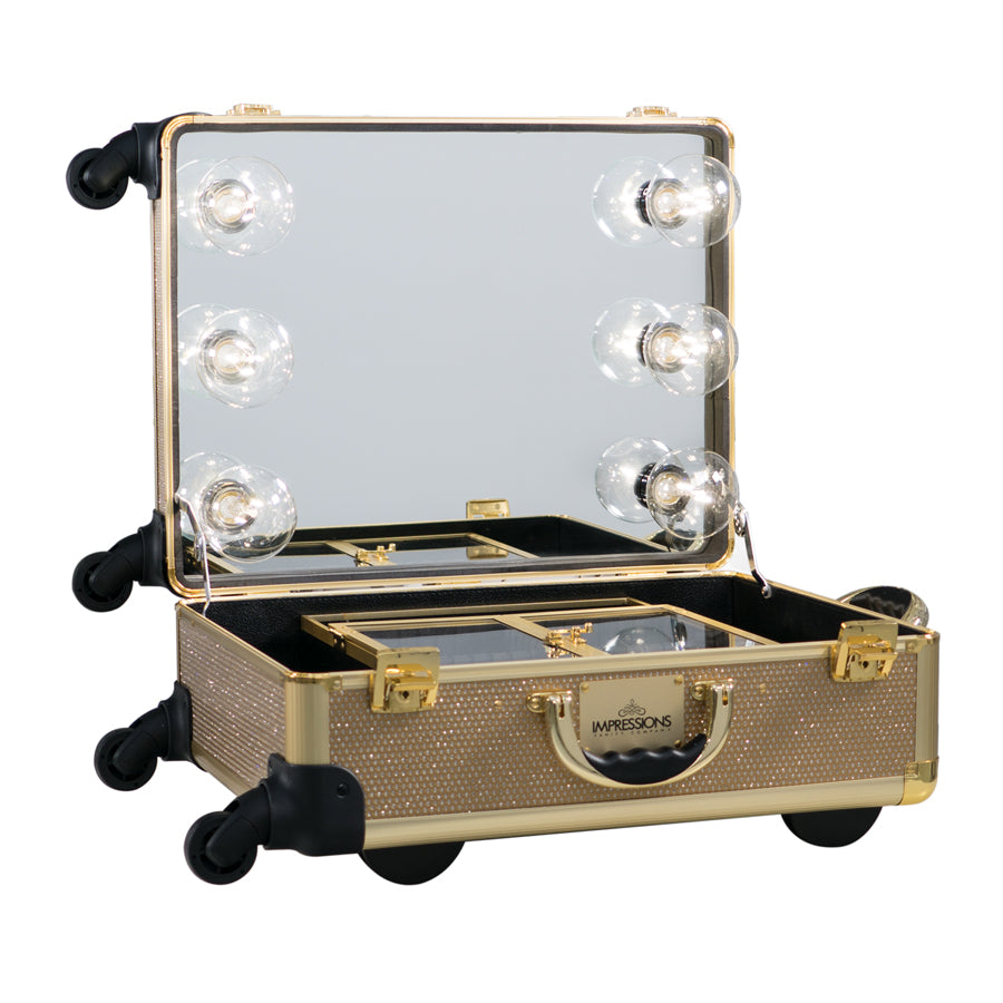 Slaycase 174 Xl Vanity Travel Train Case In Champagne Sparkle