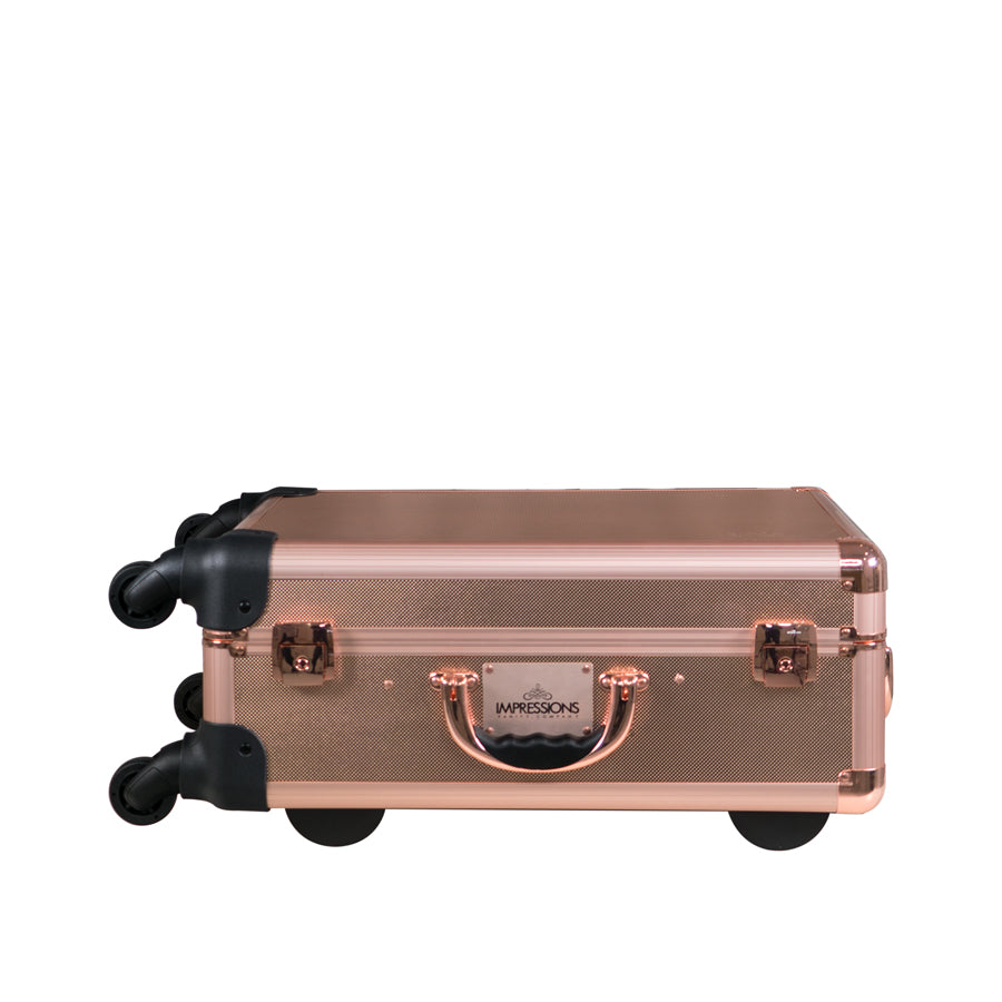 Slaycase 174 Xl Vanity Travel Train Case In Rose Gold Bling