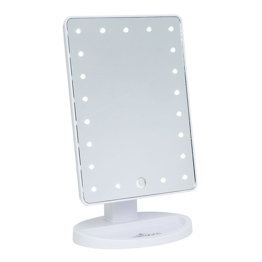 Impressions Vanity Touch LED Mini Vanity Mirror in White