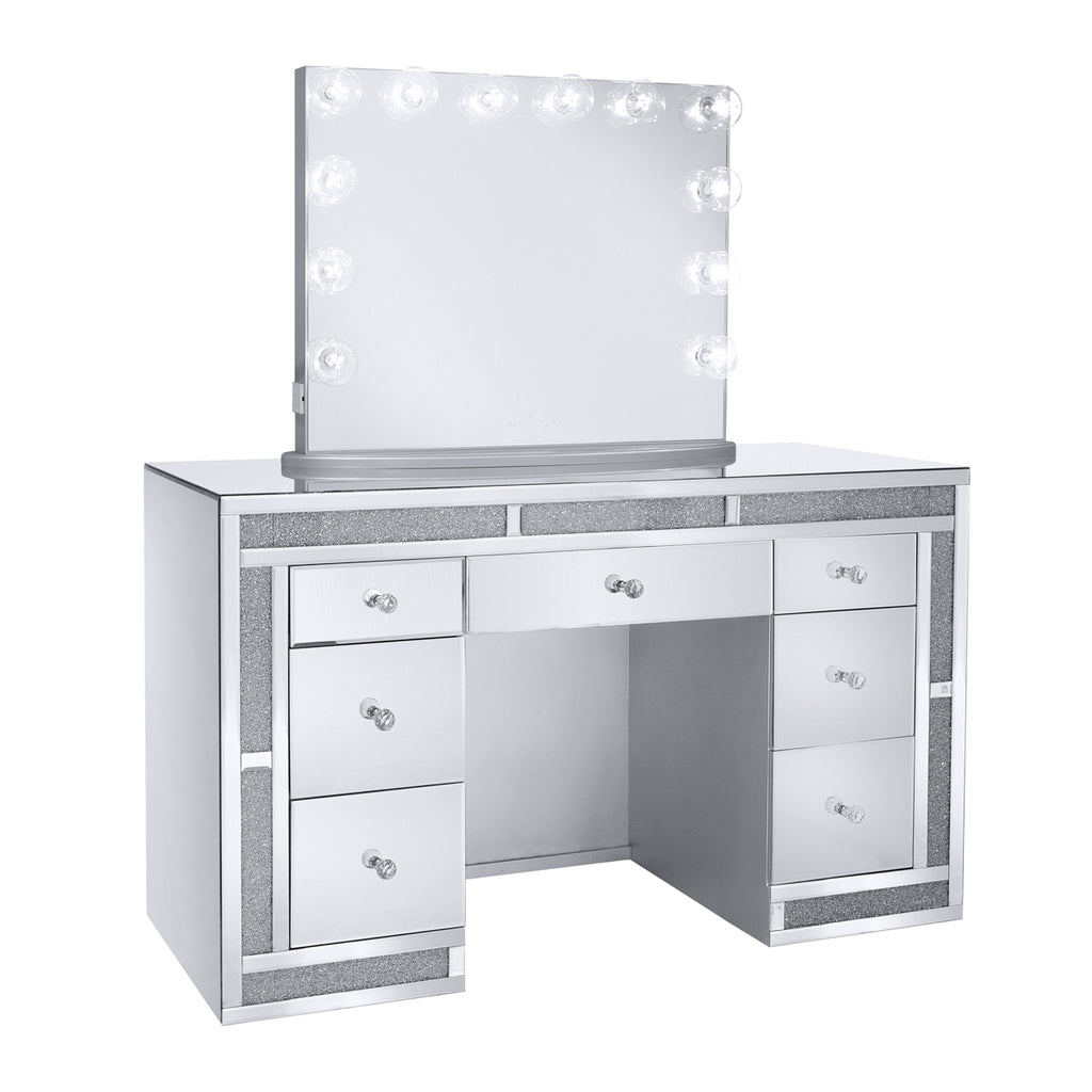 Melanie Premium Mirrored Vanity Table Impressions Vanity Co