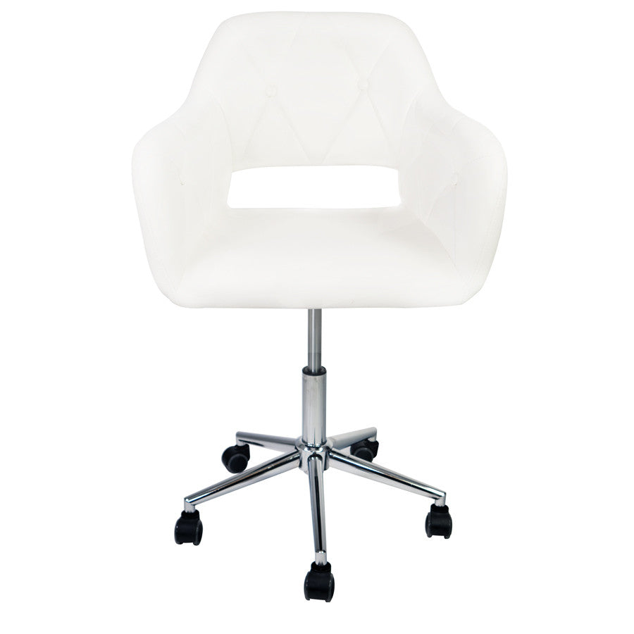 . Brittney Tufted Leatherette Vanity Chair