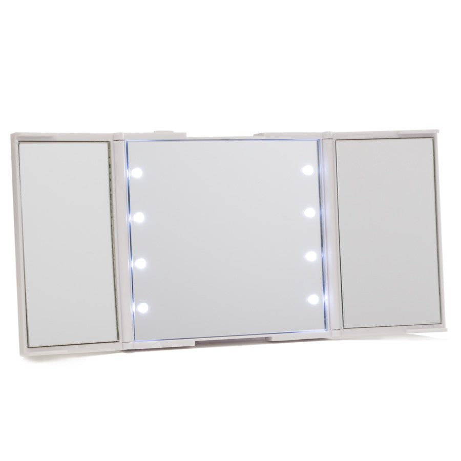 Impressions Vanity ReveaLight Trifold LED Compact Mirror in White
