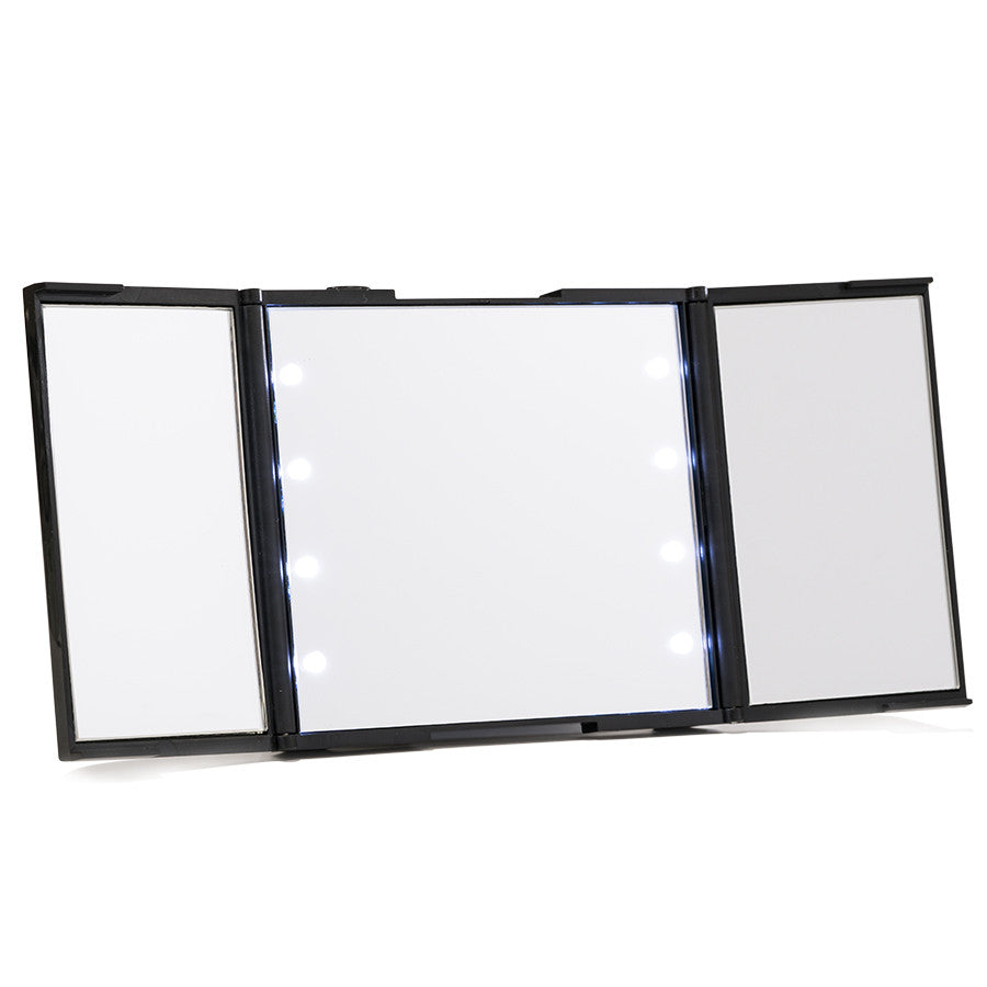 Impressions Vanity Reveal Trifold Led Compact Mirror With