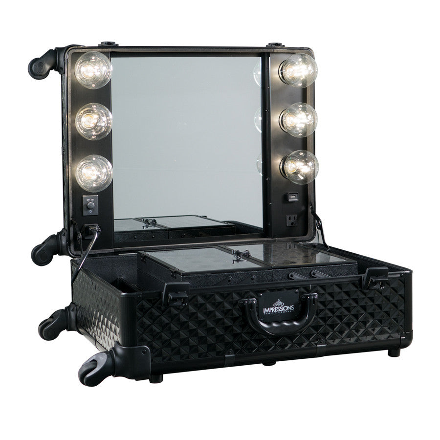 Slaycase 174 Pro Vanity Travel Train Case In Black Studded