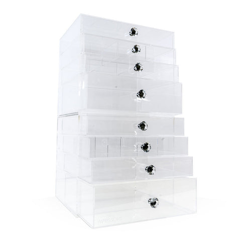 Impressions Vanity Acrylic Organizer Diamond 4 Tier Bundle Stacked