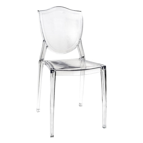 Incroyable Cristal Cresta Ghost Style Vanity Chair