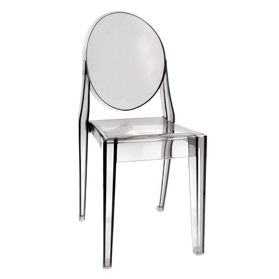 Cristal Curva Ghost Style Vanity Chair