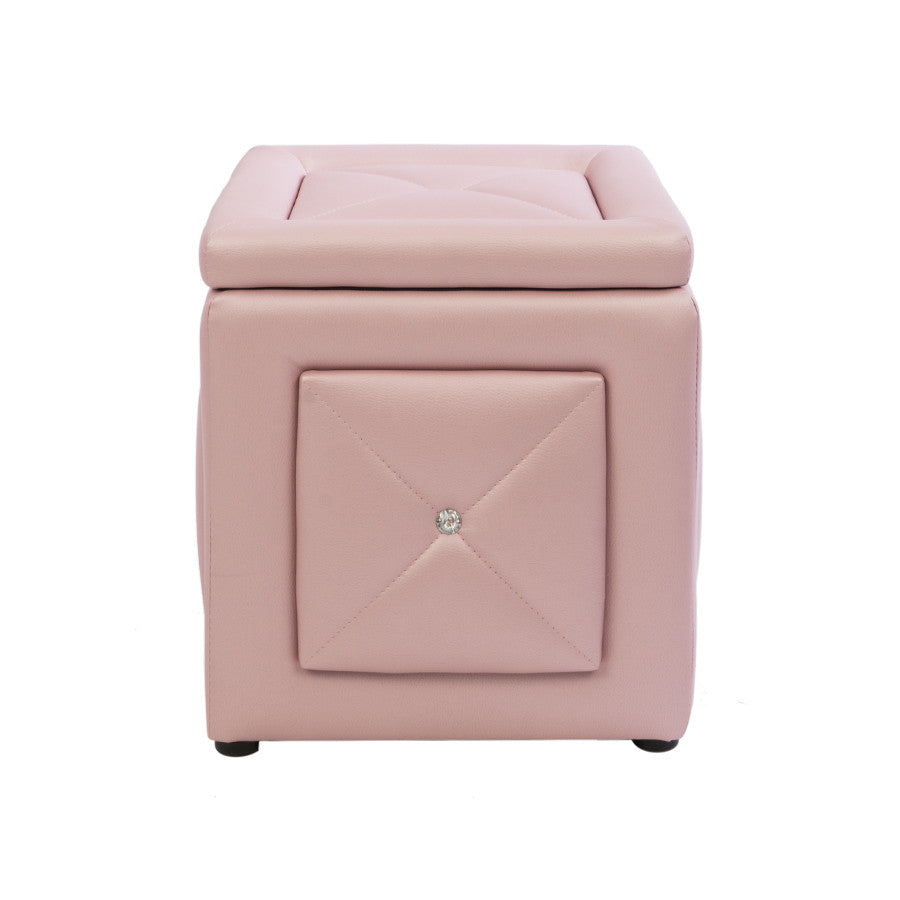 Superb Marie Crystal Tufted Vanity Storage Ottoman Impressions Pdpeps Interior Chair Design Pdpepsorg