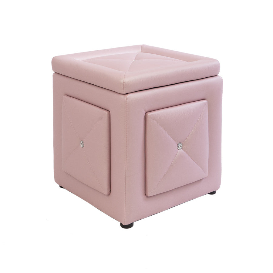 Fabulous Marie Crystal Tufted Vanity Storage Ottoman Pdpeps Interior Chair Design Pdpepsorg