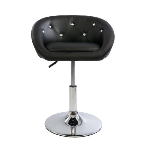 Black Diamond Tufted Leather Chair