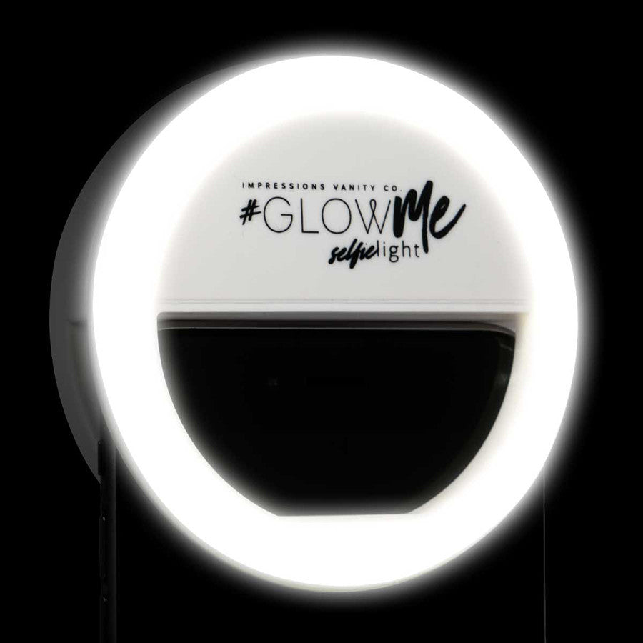 Glowme Led Selfie Ring Light For Smartphones In Black