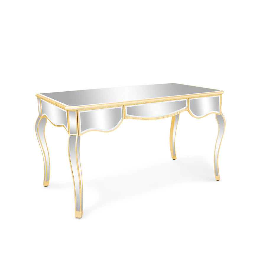 Kendall Premium Mirrored Vanity Table with Drawers