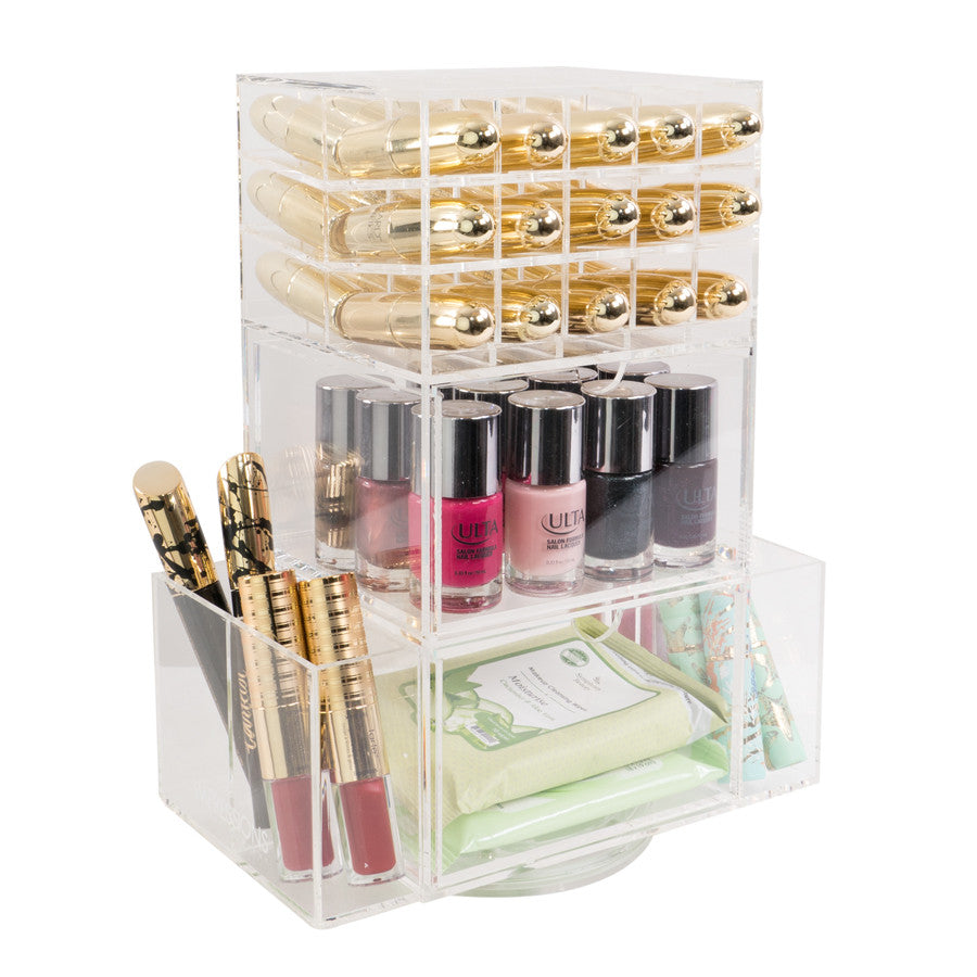 Impressions Vanity Co Acrylic Lipstick Spinner With Drawers