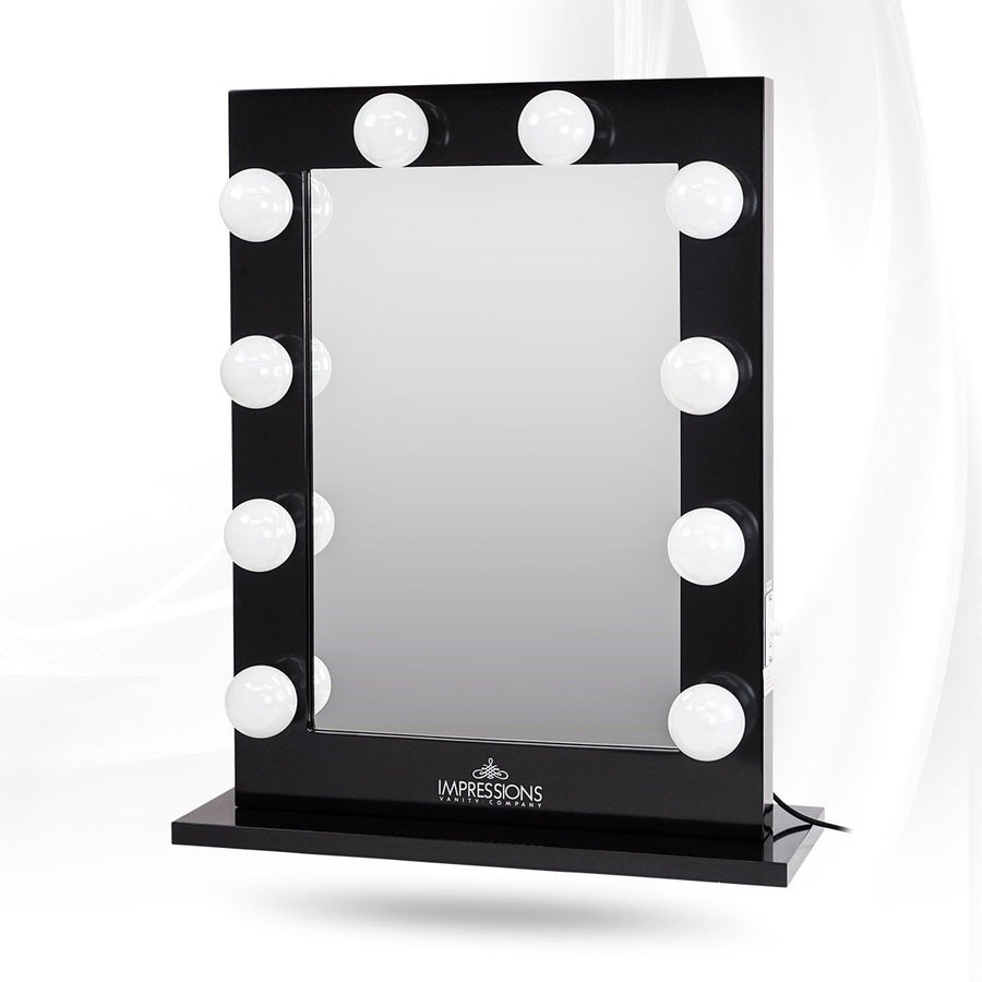 Impressions Vanity Hollywood Studio XL Lighted Vanity Mirror Black