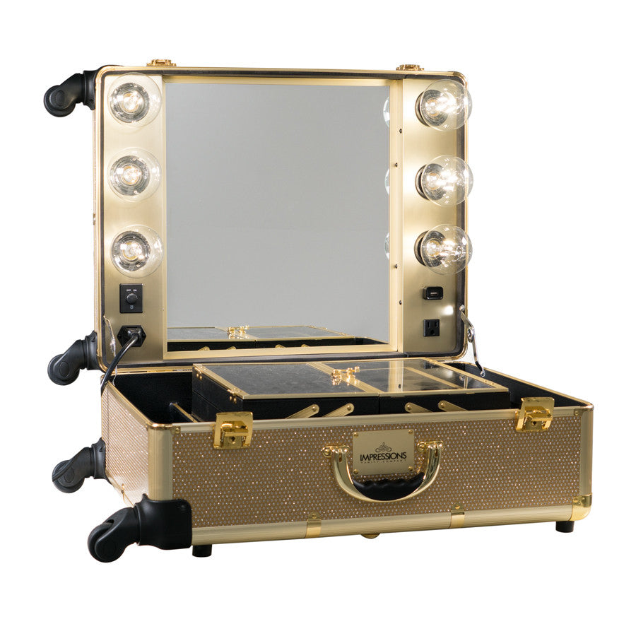 Slaycase 174 Pro Vanity Travel Train Case In Champagne