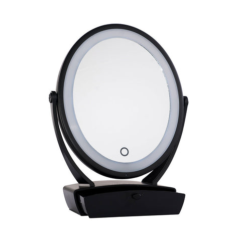 Impressions-Vanity-Touch-Blue-Flip-LED-Mirror-Black-01