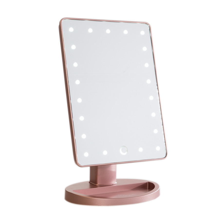 Small Vanity Mirror With Lights. Impressions Vanity Touch LED Mini Mirror in Black  Images 1 2 Co Hollywood Mirrors SLAYssentials
