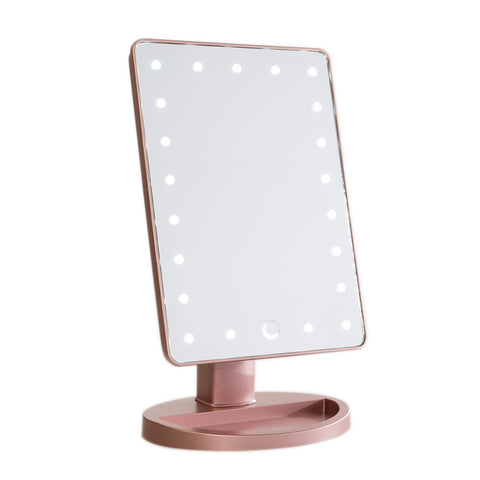 stand up vanity mirror with lights. Impressions Vanity Touch Dimmable LED Makeup Mirror in Rose Gold Co  Hollywood Mirrors SLAYssentials