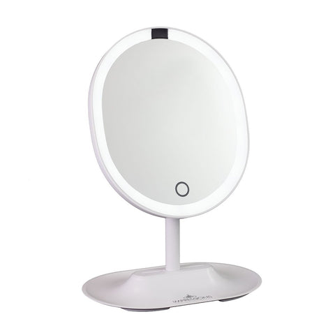 Touch Wave Motion-Activated LED Makeup Mirror with Detachable 10X Mirror