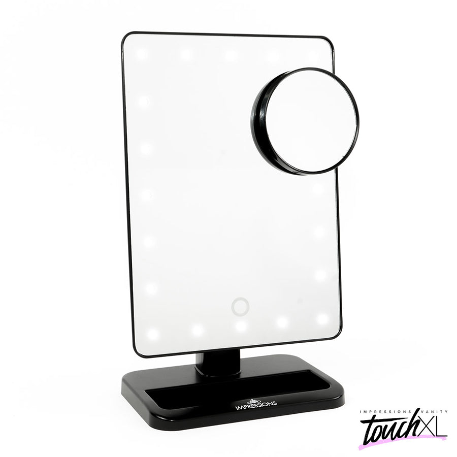 Impressions Vanity Co. Touch XL Dimmable LED Makeup Mirror with Suction 5X