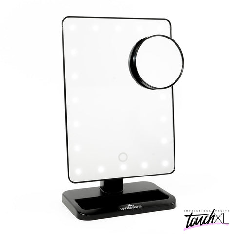 Touch XL Dimmable LED Mirror Black