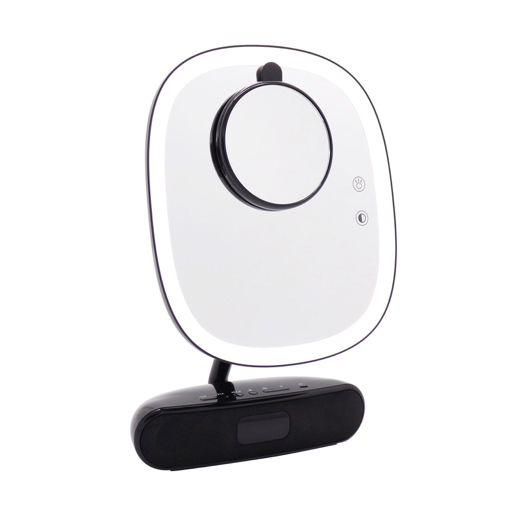 Melody Duotone Makeup Mirror with Bluetooth Speakers