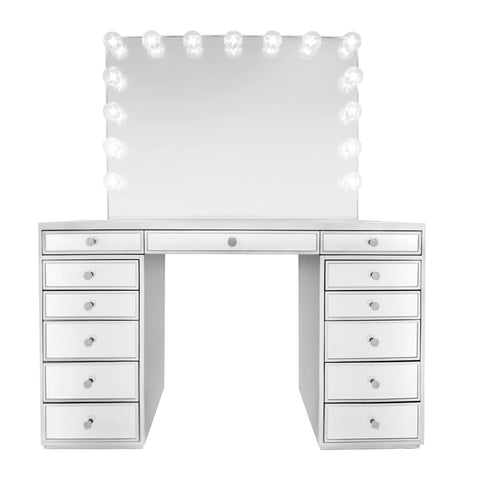 SlayStation® Premium Mirrored Vanity Table