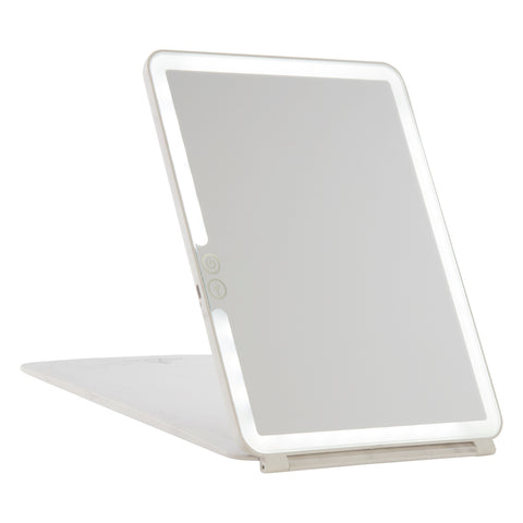 Touch Pad 2.0 Rechargeable LED Makeup Mirror with Flip Cover